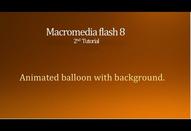Animated balloons with background in Macromedia Flash